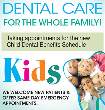 Dental Services - Child dental benefits schedule